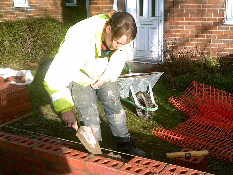darfield community refurbishment scheme brick laying